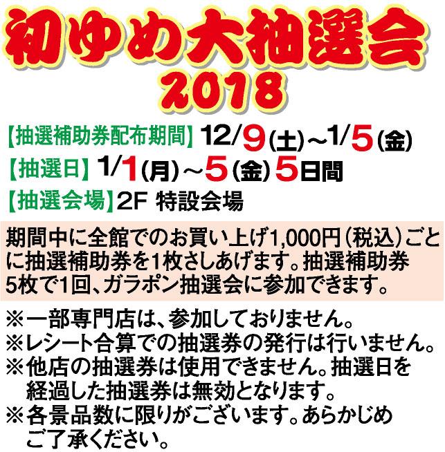 初ゆめ大抽選会2018
