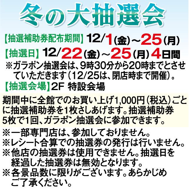 冬の大抽選会