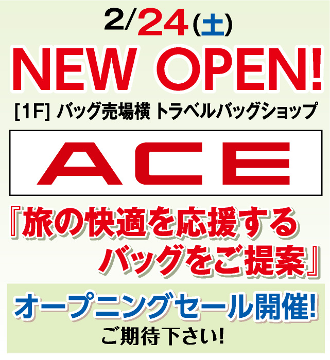 NEW OPEN! ACE